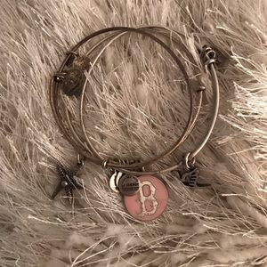 3 Alex and Ani bracelets